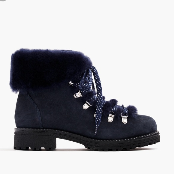 42f8fc02fbd J.Crew Nordic Boots Ankle Bootie Shearling NIB